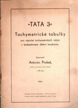 TATA 3 - Tachymetrické tabulky